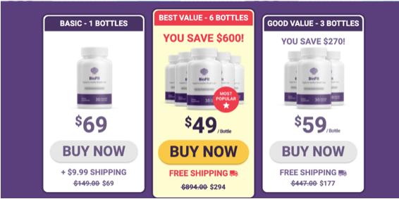 BioFit product label